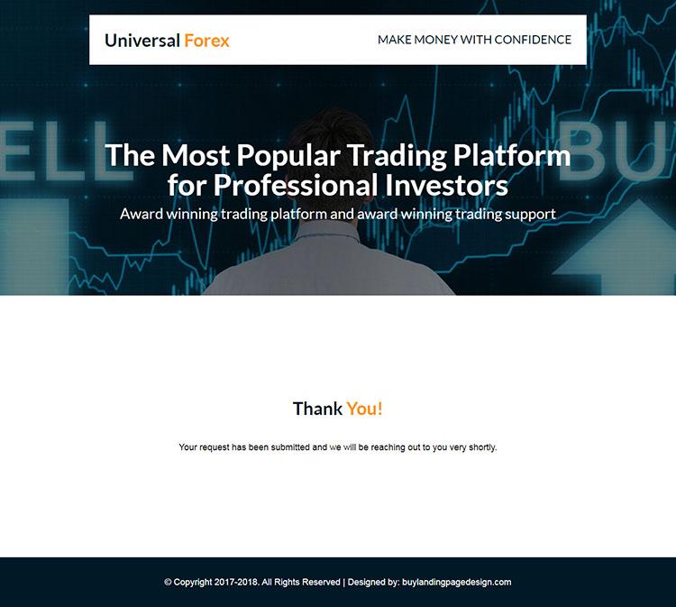 responsive forex trading strategies landing page design