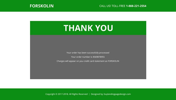 forskolin weight loss product selling landing page