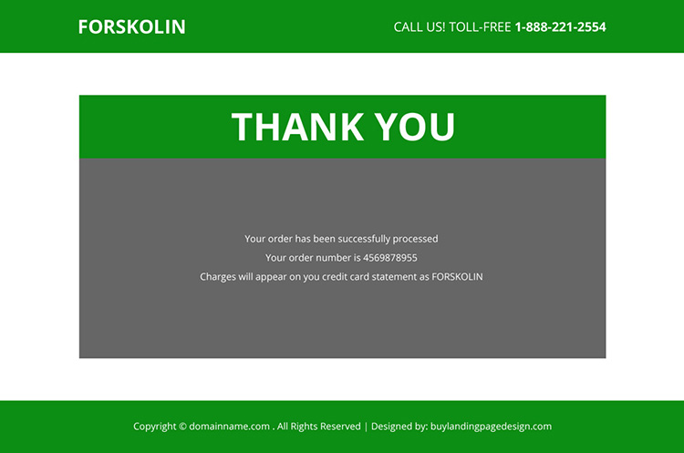 forskolin weight loss product selling responsive landing page
