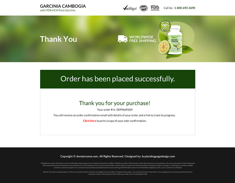 garcinia cambogia extract selling responsive landing page