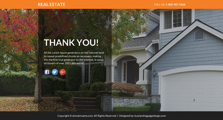 real estate lead funnel responsive landing page