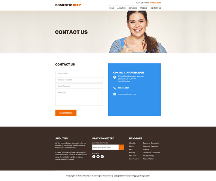 best domestic helpers agency website design
