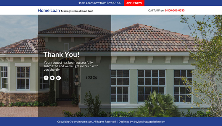 home loan marketing sales funnel responsive landing page