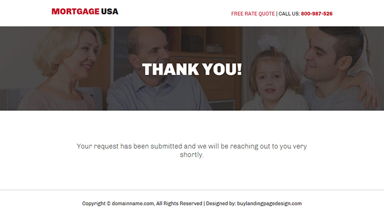 largest mortgage lender bootstrap landing page