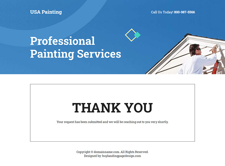 professional house painting contractors landing page design