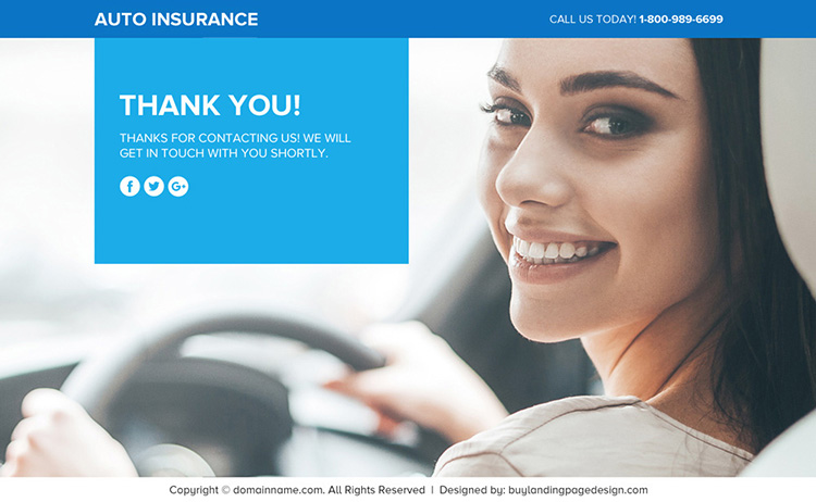 auto insurance lead capturing funnel page design