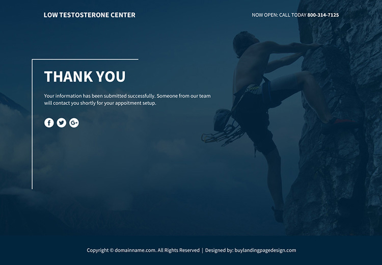 low testosterone therapy lead funnel responsive landing page