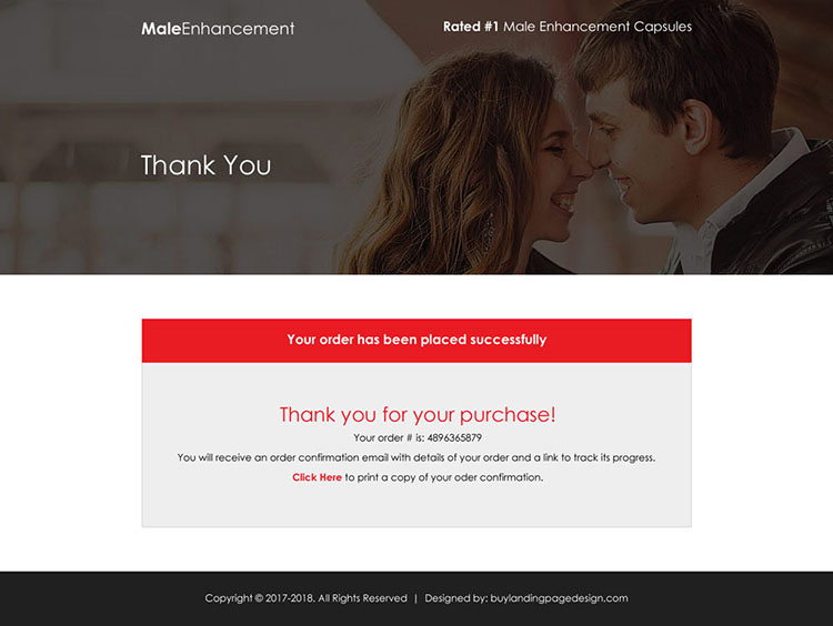 male enhancement capsules selling best landing page design