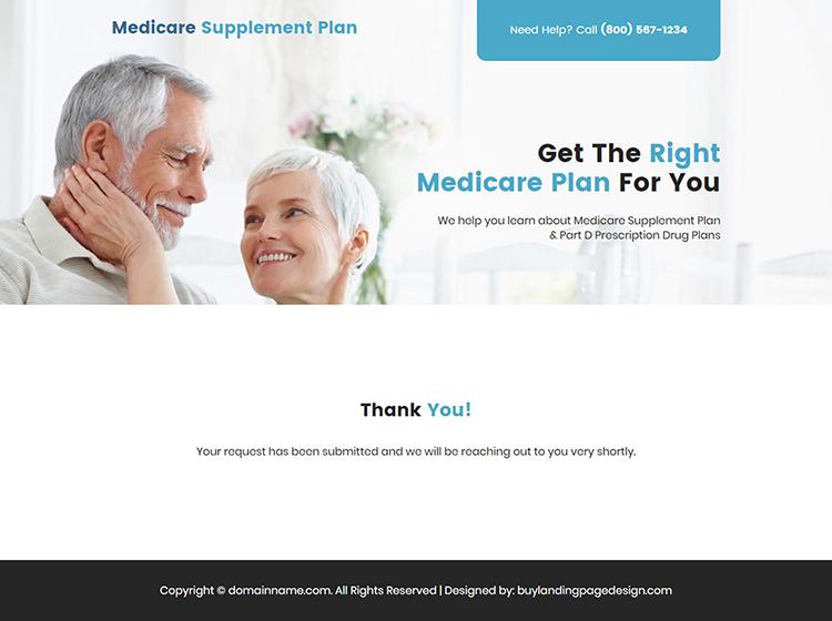 medicare plan lead capture responsive landing page