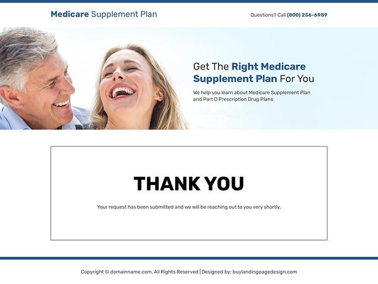 medicare supplement plans responsive landing page design