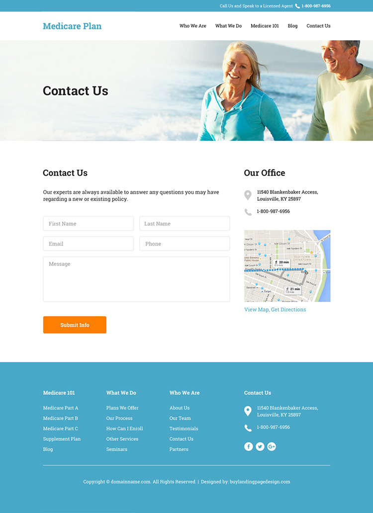 medicare supplement insurance responsive website design