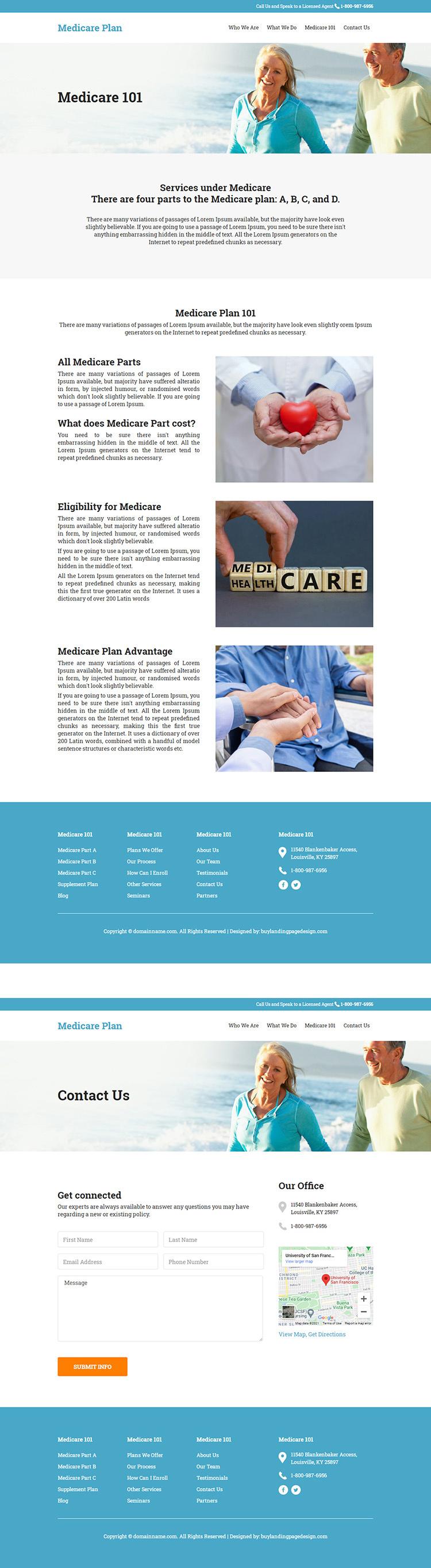 medicare supplement insurance responsive website design