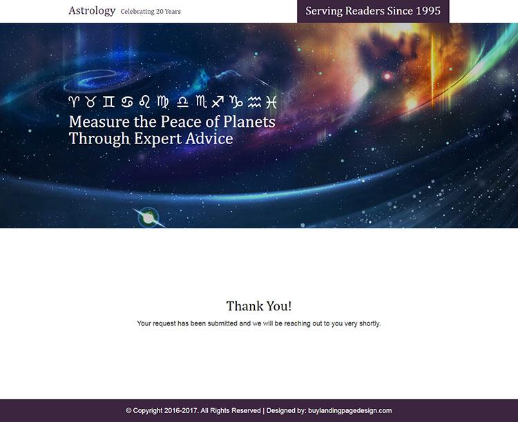 online astrology prediction responsive landing page design