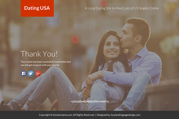online dating sign up capturing lead funnel landing page