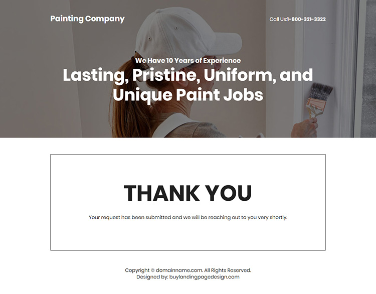 residential and commercial painting company responsive landing page