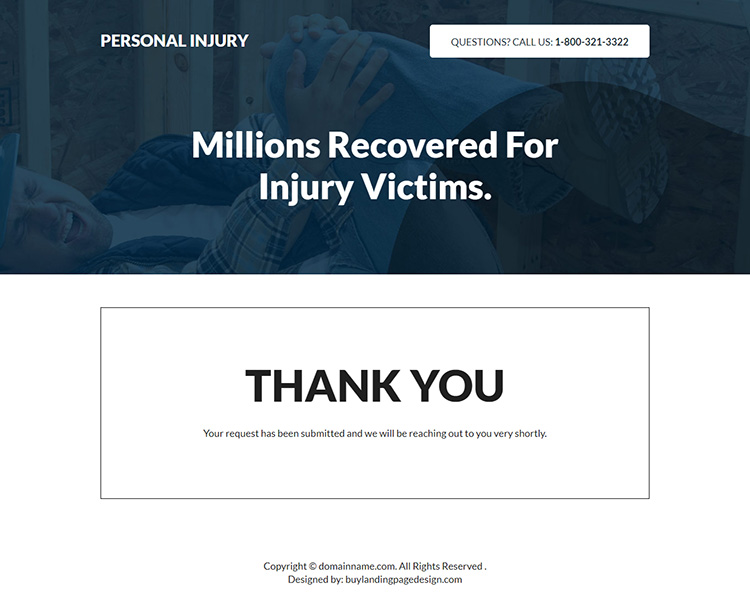 personal injury free consultation responsive landing page