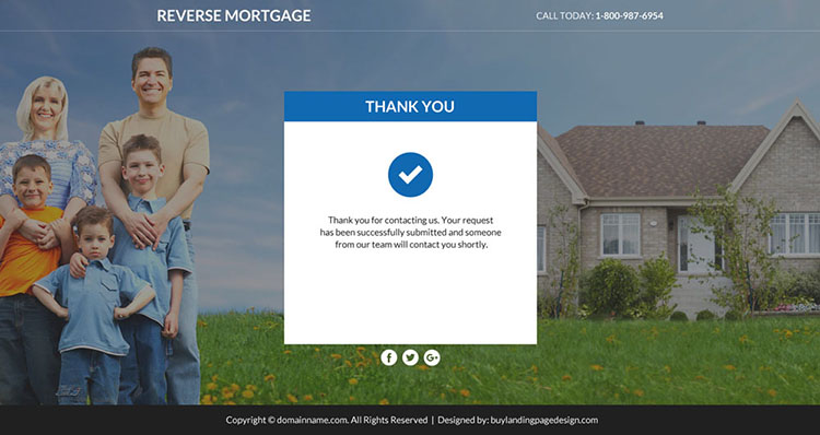 reverse mortgage leads responsive funnel page design