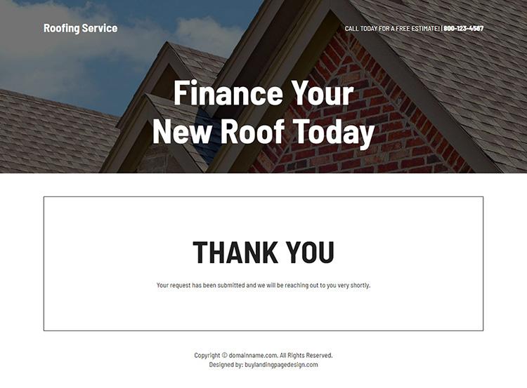 roof repair service free estimate responsive landing page