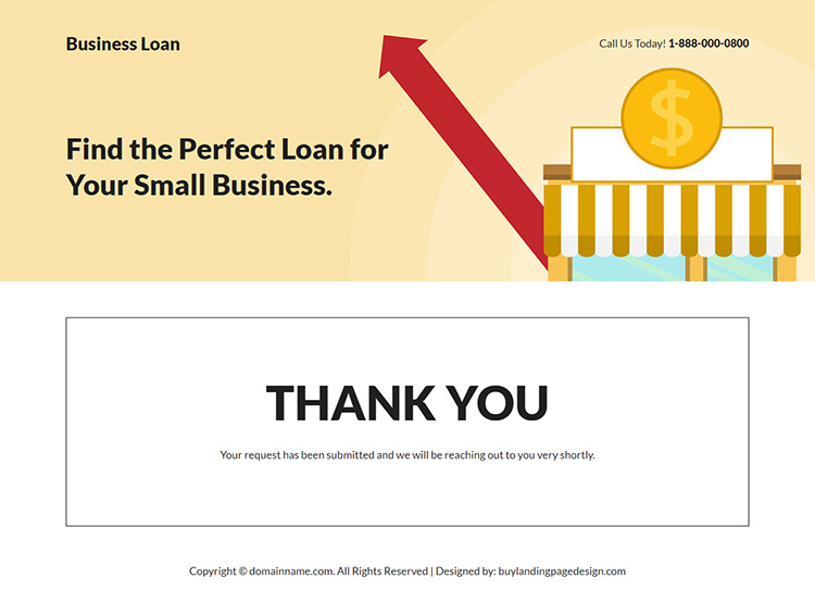 small business funding responsive landing page design