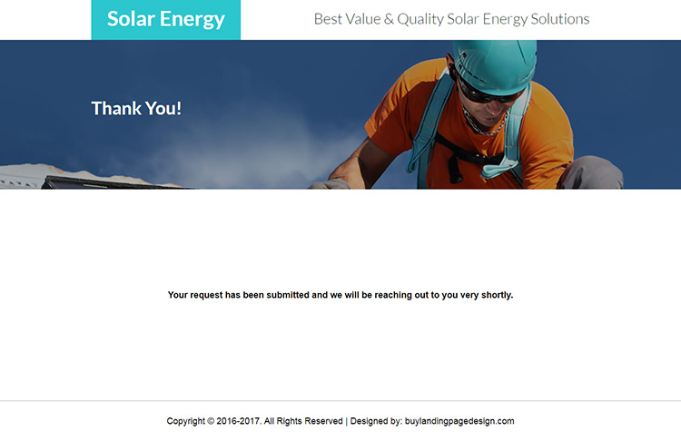 responsive solar energy solutions landing page design