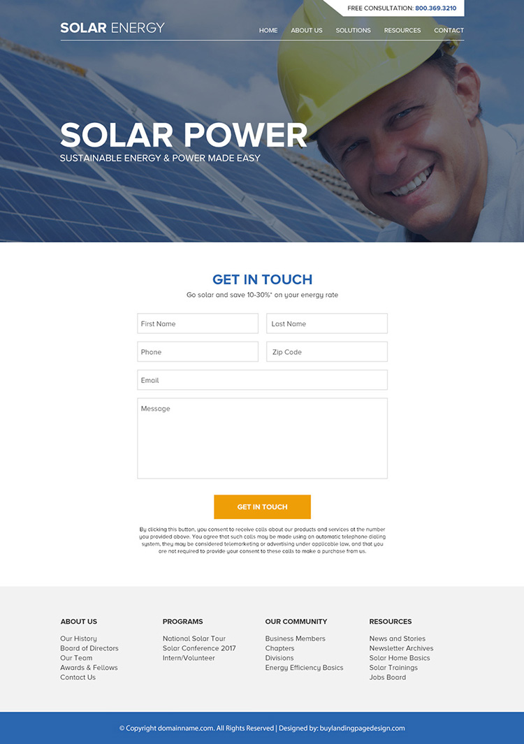solar panel technology responsive website design