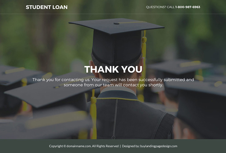 student loan lead funnel responsive landing page design