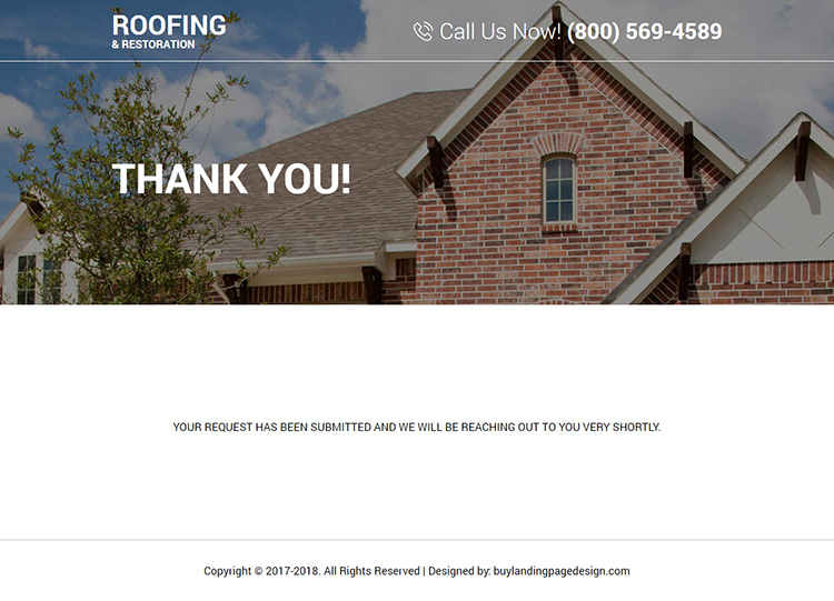 top quality roofing and restoration responsive landing page