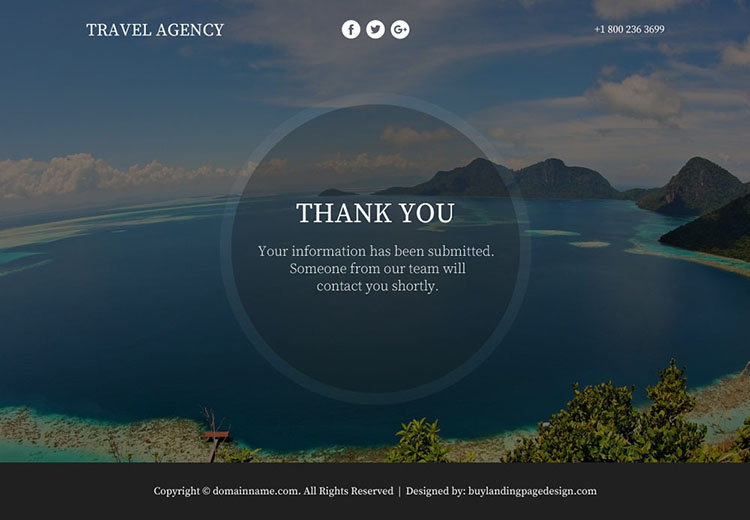 appealing travel agency lead funnel landing page